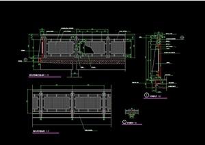 详细的景观栏杆围栏设计cad施工图