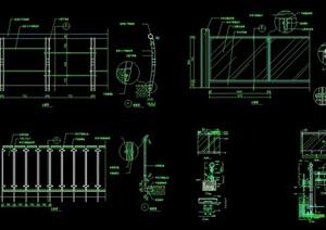 详细经典栏杆素材设计cad施工图