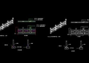 某详细的整体栏杆素材cad施工图