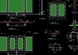 详细的经典围栏设计cad施工图