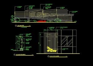 详细的栏杆围栏素材cad施工图