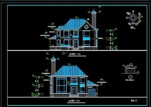 一套别墅完整详细设计cad施工图