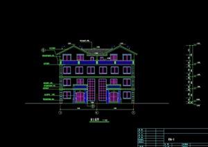 一套别墅设计建筑cad施工图