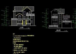详细的三层别墅cad方案
