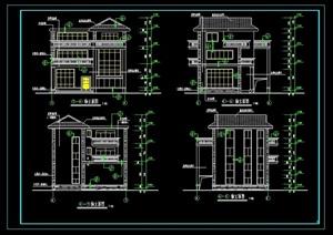 某新村别墅型cad施工图