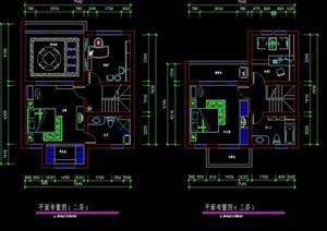 现代别墅室内cad方案图