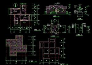 单层休闲别墅设计cad方案