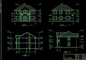 独栋别墅建筑cad方案图