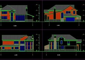 某欧式两层住宅别墅设计cad方案
