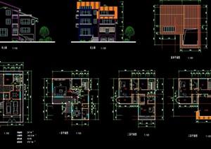新潮别墅多层建筑cad方案