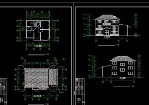 现代详细小型别墅cad施工图图纸