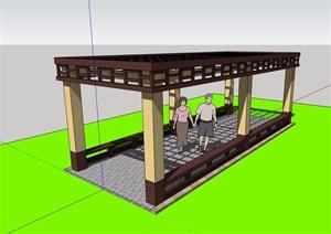 休闲景观庭院廊架素材SU(草图大师)模型