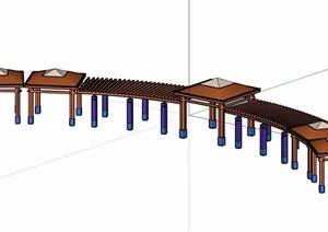 欧式详细的完整亭廊素材设计SU(草图大师)模型