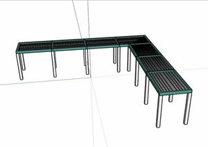 园林景观直角廊架素材SU(草图大师)模型