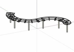 园林景观独特详细的廊架素材SU(草图大师)模型