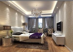 某整体详细卧室装饰3d模型