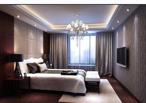 详细完整的卧室装饰3d模型