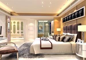某详细完整的卧室装饰空间设计3d模型