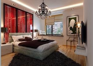 某整体详细卧室装饰设计3d模型
