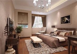 详细的完整住宅室内空间装饰3d模型