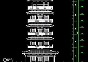 古典中式塔楼设计施工图