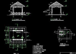中式木亭设计施工图纸