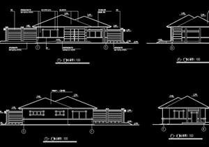 现代景区公厕建筑设计图纸