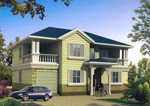 两层美式风格住宅别墅设计jpg、pdf施工图