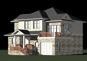 某二层美式别墅建筑结构施工图