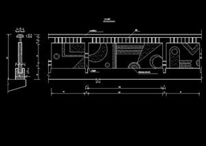 现代围墙栏杆素材设计cad立剖面图