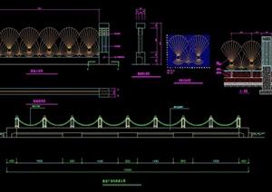 详细的围墙素材设计cad施工图
