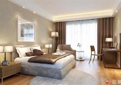 详细的卧室空间装饰设计3d模型