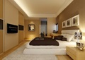 某现代详细完整的卧室装饰空间设计3d模型