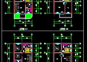 现代二层自建房平面cad方案