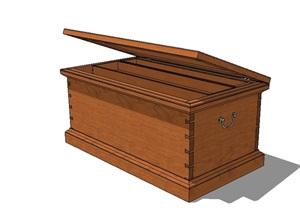 全木质柜子设计SU(草图大师)模型