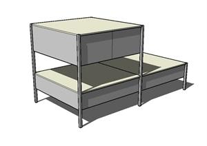 柜子经典详细设计SU(草图大师)模型