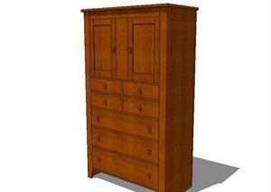 木质详细柜子设计SU(草图大师)模型