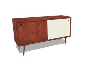 木质柜子详细设计SU(草图大师)模型
