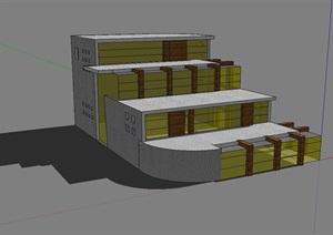 别墅多层建筑SU(草图大师)模型