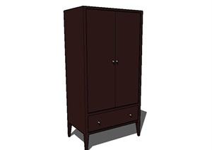室内详细柜子设计SU(草图大师)模型