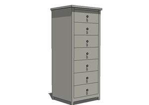 室内柜子设计SU(草图大师)模型