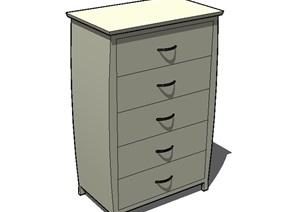 卧室抽屉柜子设计SU(草图大师)模型