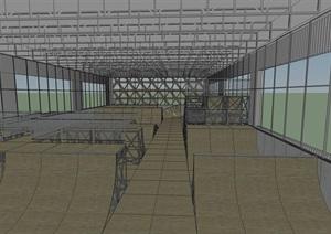 室內極限運動場設計SU(草圖大師)模型