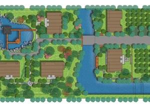 某别墅小区psd方案彩平图