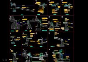 16种驳岸设计cad施工做法