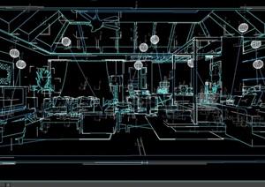 东南亚主卧室空间设计3d模型