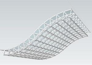 遮雨棚詳細設計SU(草圖大師)模型