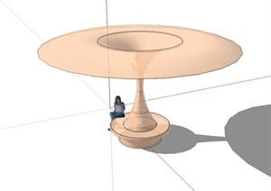 现代风格独特的钢结构凉亭设计SU(草图大师)模型