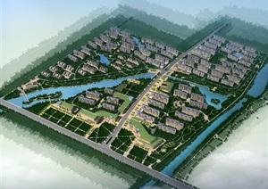 欧式住宅小区规划psd效果图
