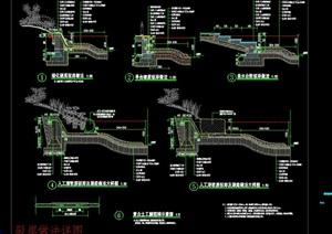 驳岸大样详图CAD施工图